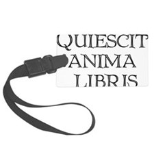 quiescit-three-lines-transparent Luggage Tag