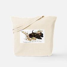 Scottish Terriers run like th Tote Bag