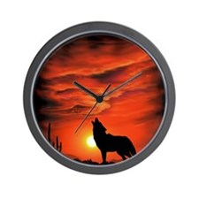 Coyote Howling tp Wall Clock