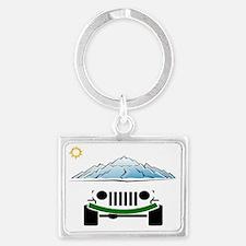 Jeep Landscape Keychain