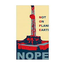 fracknopeearthLARGE Decal