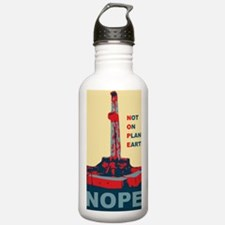 fracknopeearthLARGE Water Bottle