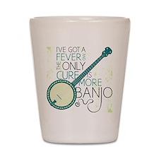 Banjo_White Shot Glass