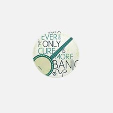 Banjo_White Mini Button