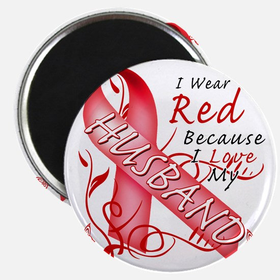 I Wear Red Because I Love My Husband Magnet
