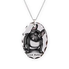 bulldog2b(t) Necklace Oval Charm