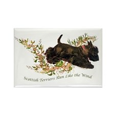 Scottish Terriers run like th Rectangle Magnet (10