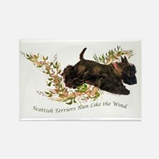Scottish Terriers run like th Rectangle Magnet
