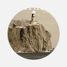 Split Rock Lighthouse State Park Round Ornament