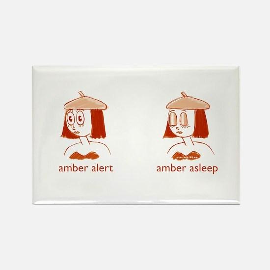 Amber Alert T-shirt Rectangle Magnet