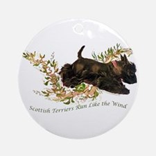 Scottish Terriers run like th Ornament (Round)
