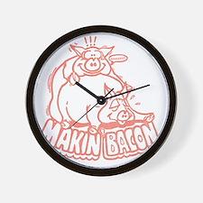 makinbaconpinktran Wall Clock