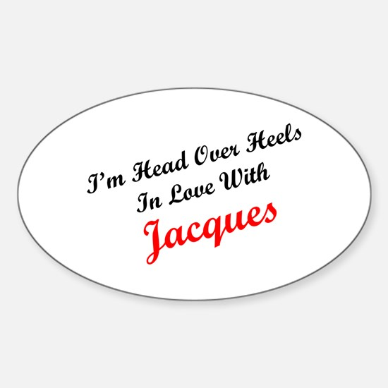 In Love with Jacques Oval Decal