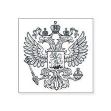 "royal russian eagle crest s Square Sticker 3"" x 3"""