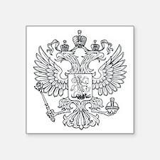 """royal russian eagle crest s Square Sticker 3"""" x 3"""""""