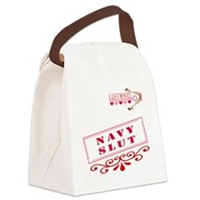 NAVY--SLUT Canvas Lunch Bag
