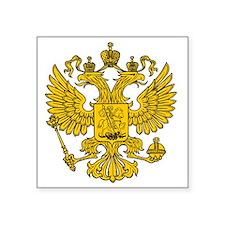 "royal russian eagle crest g Square Sticker 3"" x 3"""