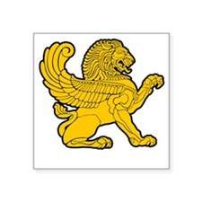 "arab persian lion gold symb Square Sticker 3"" x 3"""