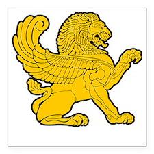 "arab persian lion gold s Square Car Magnet 3"" x 3"""