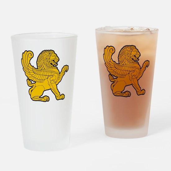 arab persian lion gold symbol herla Drinking Glass