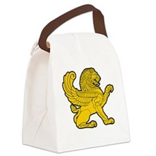 arab persian lion gold symbol her Canvas Lunch Bag