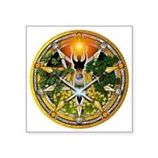 "Sabbat Pentacles - Litha Square Sticker 3"" x 3"""