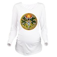 Sabbat Pentacles - L Long Sleeve Maternity T-Shirt