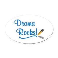 Drama Rocks Oval Car Magnet