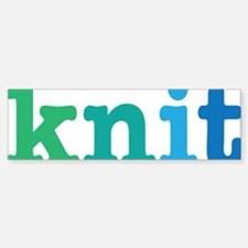 knit Bumper Bumper Sticker