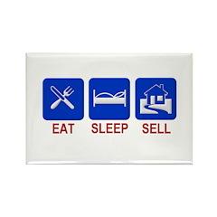 Eat. Sleep. Sell. Rectangle Magnet (10 pack)
