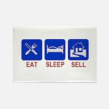 Eat. Sleep. Sell. Rectangle Magnet