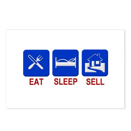 Eat. Sleep. Sell. Postcards (Package of 8)