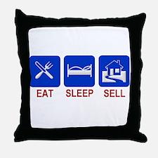 Eat. Sleep. Sell. Throw Pillow