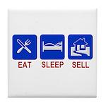 Eat. Sleep. Sell. Tile Coaster