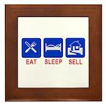 Eat. Sleep. Sell. Framed Tile