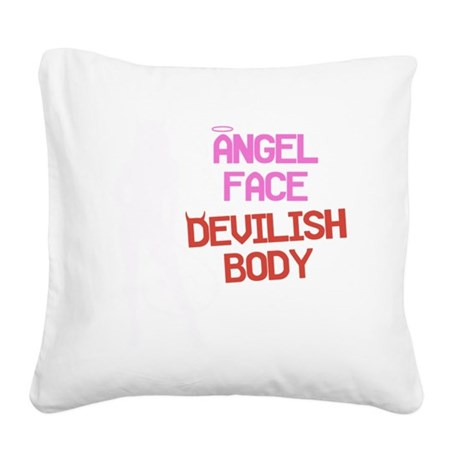 angel-face-w Square Canvas Pillow