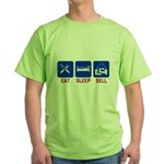 Eat. Sleep. Sell. Green T-Shirt