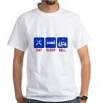 Eat. Sleep. Sell. White T-Shirt