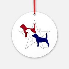 PatrioticBeagles Round Ornament