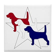 PatrioticBeagles Tile Coaster