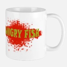 template T-shirt back hungry fish green Mug