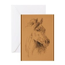 Arabian_Horse_KlineX Greeting Card