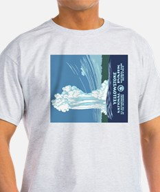 5x3oval_sticker_yellowstone_02 T-Shirt