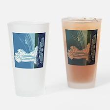 5x3oval_sticker_yellowstone_02 Drinking Glass