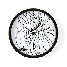 WATERMANSPEARFISHDblack Wall Clock