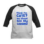 Think I'm Cute? CousinS {Plur Kids Baseball Jersey