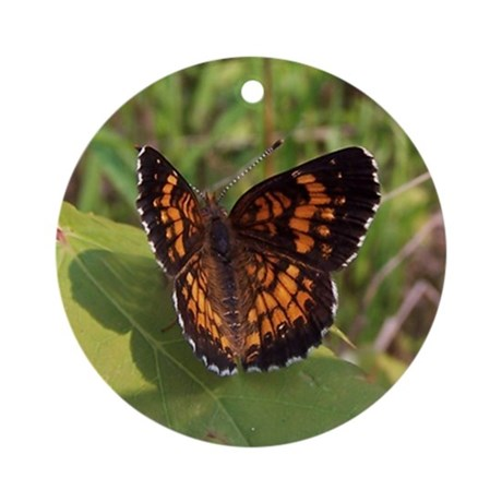 Harris' Checkerspot Ornament (Round)