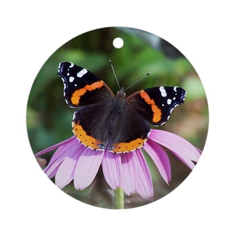 Red Admiral Ornament (Round)