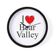 """""""I Love Bear Valley"""" Wall Clock"""