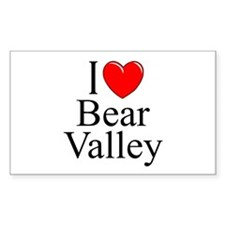 """""""I Love Bear Valley"""" Rectangle Decal"""